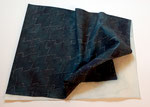 Sashiko Furoshiki #5, 2009; Watercolor on shaped paper, 16 1/2 x 13 x 2 inches