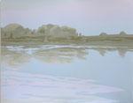Reflection in the lake_2014_silkscreen_381×482mm