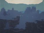 Foggy waterfront_610×800mm_silkscreen_2013