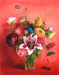 15時の旋律 41×31.8㎝ 2009 【sold out】 板に油彩・テンペラ(混合技法)