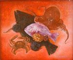 海岸線 58.7×70.5cm 2008 【sold out】 板に油彩・テンペラ(混合技法)