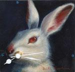 時計 -ウサギ- 11×11cm 2005 【sold out】 板に油彩・テンペラ(混合技法)