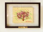 SUKURA 14×18.2×18(F0) キャンバスに油彩・テンペラ・糸