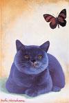 猫と詩 22.7×15.8㎝(SM) 2010 【sold out】 板に油彩・テンペラ(混合技法)
