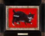 赤のfortissimo 15.8×22.7㎝(SM) 2010【sold out】板に油彩・テンペラ(混合技法)