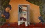 ふしぎな出会い 58.5×91cm 2002 【sold out】板に油彩・テンペラ(混合技法)