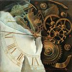 時計 A 15×15cm 2005 【sold out】 板に油彩・テンペラ(混合技法)
