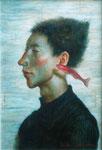 静かな水音 15×15cm 2001  【sold out】 板に油彩・テンペラ(混合技法)