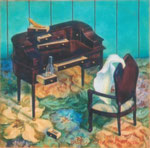 部屋 15×15cm 2001  【sold out】 板に油彩・テンペラ(混合技法)
