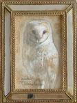 白い旅 III 27.5×22.5(額込) 2014  【sold out】  紙・鉛筆・水彩・洋金箔