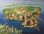 空想都市 117×91cm 2007 板に油彩・テンペラ(混合技法)