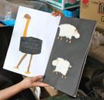 素材を大切にした「さわって楽しめる絵本」も作っています。
