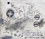 """""""gamegirl"""" - Zeichenstift auf Papier - 13 x 11 cm"""