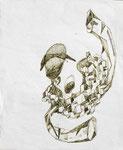 """""""Synthetic Hero"""" - Zeichenstift auf Papier - 21 x 26 cm"""