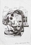 """""""Ich bin nicht Woody Allen"""" - Zeichenstift auf Papier - 21 x 30 cm"""
