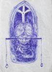 """""""jedenfalls als"""" - Zeichenstift auf Papier - 21 x 30 cm"""