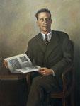 D. Segundo Blanco González. Galería de retratos de Ministros de Educación 108 x 82 cm.