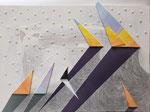 田中ゆうひ アクリル、メディウム、樹脂、イラストボード、木製パネル A3(41.8×29.7cm) 『ドクサ-Ⅰ』
