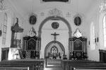 Tavel, Eglise St-Martin, autels & chaire