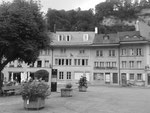 Fribourg, Place du Petit-St-Jean 21, inscription de façade