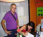 Con l'autrice Barbara Bolzan