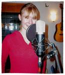 Sängerin bei einer Aufnahme