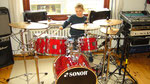 NEU! Sonor Force Special im Retro-Look perlmutt-Rot, inc. Double-Bass Fußmaschine und Paiste 2000 Becken