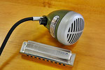 Vintage: Shure 520 DX Mikrofon für Mundharmonika