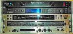 Rackrider RR 10E, t.c.-M-One Multieffekt, Korg DTR-1 Digital Tuner (Bühnenstimmgerät), Behringer Composer (Sound Compressor), Rocktron Inlellifex ltd. Multieffekt für Gitarristen