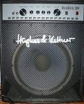 """Bassverstärker Hughes & Kettner BassKick 300 mit 15"""" Speaker, da wackelt die Diele. H&K gehört übrigens zur deutschen Stamer Gruppe und kommt aus dem Saarland."""