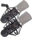 Großmembranmikrofon für Studio-Gesangsaufnahmen, 30 Hz - 20 kHz, Nierencharakteristik, Kondensator