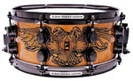 "Mapex Black Panther snare drum, 12x5,5"", (Chris Adler signature modell, Schlagzeuger der U.S. Metal Band Lamb Of God ), Kessel aus Walnuss- u. Ahornholz, Throw off Abhebung, Black Chrome Hardware."