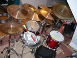 Sonor Jungle Set mit allen Becken (Paiste 2002, Ufip)