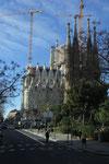 Sagrada Familia von der anderen Seite