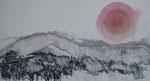 Rote Sonne/Sumi-e/1988/35,7x19,4cm/ID: 8S93-1026
