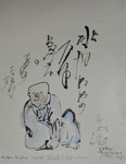 Haiku-Dichter Iwata Ryoto - Sumi-e