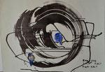 Zen-Kreis und Vögel/Tapetenrückseite/1985/72,0x53,0/3S63-0338