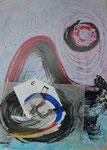 Collage, Zen-Kreis oder Mond?/62,5x89,0cm/ ID: 9S84-1159