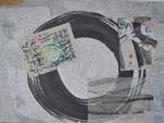 Zen-Kreis, Collage/60,0x46,0cm/ ID: 7S68-0892