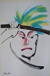 Clown - Sumi-e