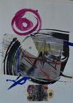 Collage, lila Zen.Kreis/42,7x60,3cm/ ID: 3S75-350,1