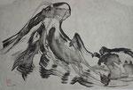 Welle abstrakt/1989/34,8x23,4cm/ ID: 8S35-0968