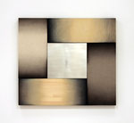 「Fusion Ⅲ」 97.5 x 108.7 x 6cm アクリル絵具、アルキド絵具、麻布、綿麻布、集成材、合板、ステンレス  Private Collection, UK