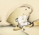 「接」 90.1 x100.1 x 5.9 cm 墨、油絵具、アルキド絵具、綿麻布 Private Collection, Germany