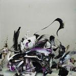 「無題」  162 x 162 cm 油絵具、アルキド絵具、キャンバス Private Collection, Japan