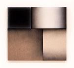 「Fusion Ⅰ」  98.1 x 108 x 6.2cm 油絵具、アクリル絵具、黒綿布、白綿布、綿麻布、麻布