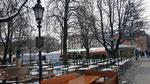 der winterliche Viktualienmarkt