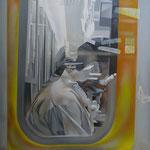 Tatoo 2009, Acryl auf Leinwand, 150x150cm