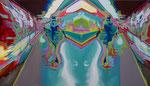 Double Motion 2008, Acryl auf Leinwand, 140x250cm