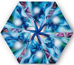 Blue Hexoganal, Acryl auf Leinwand, 80x80cm